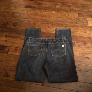 Michael Kors size 12 5 pocket dark denim jeans